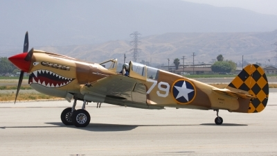 Photo ID 34907 by Nathan Havercroft. Private Planes of Fame Air Museum Curtiss P 40N Warhawk, N85104