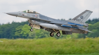 Photo ID 35032 by Alex van Noye. Netherlands Air Force General Dynamics F 16AM Fighting Falcon, J 637