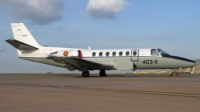 Photo ID 36635 by Chris Lofting. Spain Air Force Cessna Citation V 560, TR 20 01