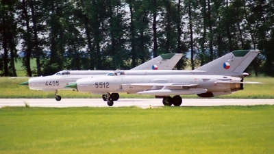 Photo ID 37914 by Radim Spalek. Czech Republic Air Force Mikoyan Gurevich MiG 21MF, 5512