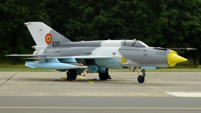 Photo ID 37886 by Radim Spalek. Romania Air Force Mikoyan Gurevich MiG 21MF 75 Lancer C, 6305