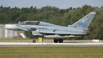 Photo ID 39050 by Jörg Pfeifer. Germany Air Force Eurofighter EF 2000 Typhoon T, 98 03