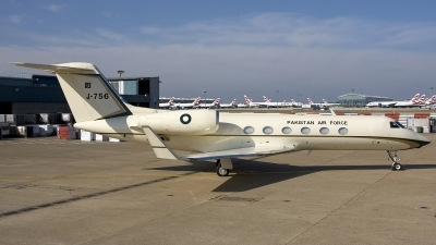 Photo ID 40808 by Chris Lofting. Pakistan Air Force Gulfstream Aerospace G IV X Gulfstream G450, J 756