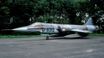 Photo ID 41986 by Joop de Groot. Netherlands Air Force Lockheed F 104G Starfighter, D 8312