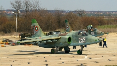 Photo ID 44271 by Alexander Mladenov. Bulgaria Air Force Sukhoi Su 25K, 253