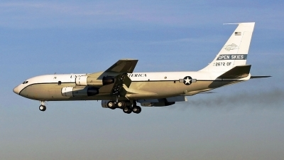 Photo ID 46049 by PAUL CALLAGHAN. USA Air Force Boeing OC 135B 717 158, 61 2672