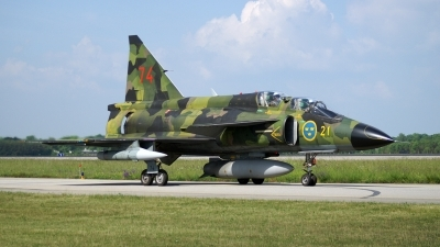 Photo ID 5791 by Jörg Pfeifer. Sweden Air Force Saab SK37E Viggen, 37813