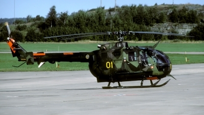 Photo ID 47382 by Joop de Groot. Sweden Armed Forces MBB BO 105CB 3 Hkp 9A, 09201