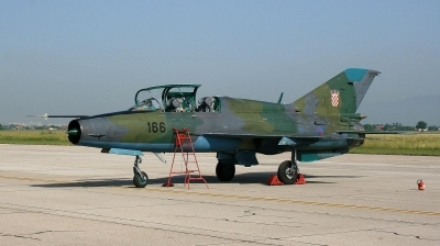 Photo ID 47675 by Goran Novacic. Croatia Air Force Mikoyan Gurevich MiG 21UM, 166
