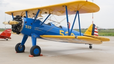 Photo ID 47932 by Fabrizio Berni. USA Army Air Force Boeing Stearman E75, N66557