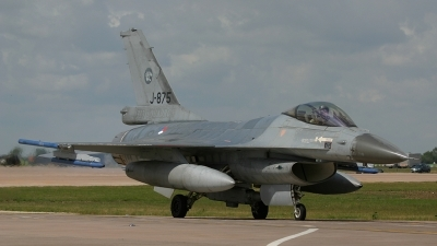 Photo ID 49402 by Barry Swann. Netherlands Air Force General Dynamics F 16AM Fighting Falcon, J 875