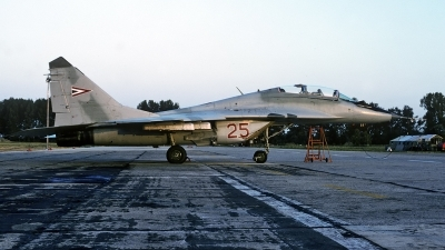 Photo ID 52565 by Carl Brent. Hungary Air Force Mikoyan Gurevich MiG 29UB 9 51, 25