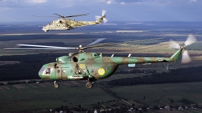 Photo ID 53110 by Carl Brent. Ukraine Army Aviation Mil Mi 8MT, 01 YELLOW