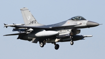 Photo ID 54382 by Carl Brent. Netherlands Air Force General Dynamics F 16AM Fighting Falcon, J 872