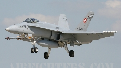 Photo ID 6797 by Rainer Mueller. Switzerland Air Force McDonnell Douglas F A 18C Hornet, J 5006
