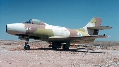 Photo ID 54941 by Carl Brent. Israel Air Force Dassault Ouragan, 94