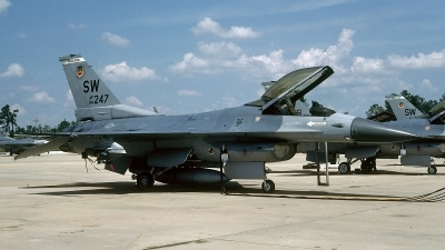 Photo ID 55138 by David F. Brown. USA Air Force General Dynamics F 16C Fighting Falcon, 84 1247
