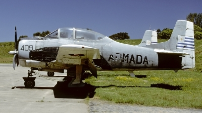 Photo ID 55686 by Carl Brent. Uruguay Navy North American T 28A Fennec, 409