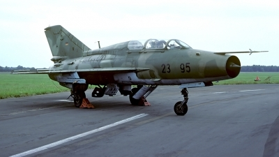Photo ID 55917 by Carl Brent. Germany Air Force Mikoyan Gurevich MiG 21U 600, 23 95