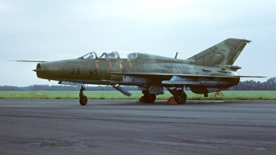 Photo ID 55916 by Carl Brent. Germany Air Force Mikoyan Gurevich MiG 21U 600, 23 95