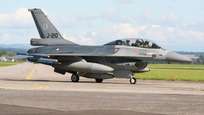 Photo ID 56539 by Milos Ruza. Netherlands Air Force General Dynamics F 16BM Fighting Falcon, J 210