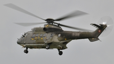 Photo ID 58049 by Martin Thoeni - Powerplanes. Switzerland Air Force Aerospatiale TH89 Super Puma AS 332M1, T 315