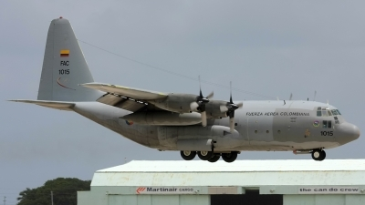 Photo ID 57781 by Hector Rivera - Puerto Rico Spotter. Colombia Air Force Lockheed C 130H Hercules L 382, FAC1015