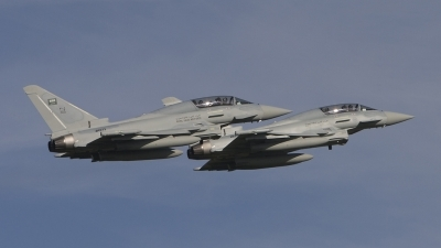 Photo ID 58445 by Tom Gibbons. Saudi Arabia Air Force Eurofighter EF 2000 Typhoon T, ZK073