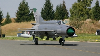 Photo ID 7298 by Ales Nyvlt. Czech Republic Air Force Mikoyan Gurevich MiG 21MF, 9805