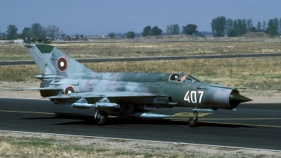 Photo ID 60090 by Joop de Groot. Bulgaria Air Force Mikoyan Gurevich MiG 21bis SAU, 407