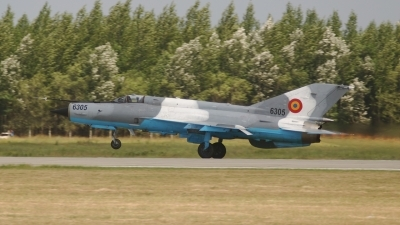 Photo ID 60851 by Rob Hendriks. Romania Air Force Mikoyan Gurevich MiG 21MF 75 Lancer C, 6305