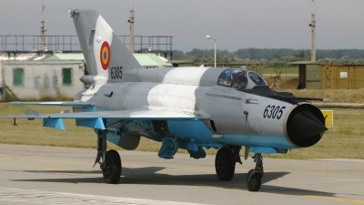 Photo ID 60850 by Rob Hendriks. Romania Air Force Mikoyan Gurevich MiG 21MF 75 Lancer C, 6305