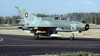 Photo ID 61860 by Carl Brent. Bulgaria Air Force Mikoyan Gurevich MiG 21UM, 29