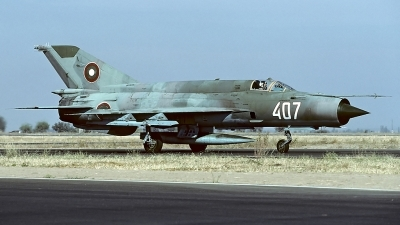 Photo ID 62230 by Carl Brent. Bulgaria Air Force Mikoyan Gurevich MiG 21bis SAU, 407