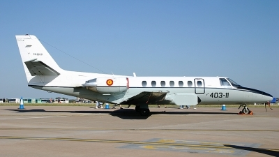 Photo ID 62210 by Rob Hendriks. Spain Air Force Cessna Citation V 560, TR 20 01