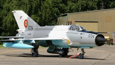 Photo ID 62562 by Rob Hendriks. Romania Air Force Mikoyan Gurevich MiG 21MF 75 Lancer C, 5724