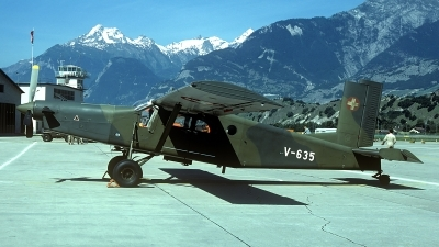 Photo ID 63000 by Carl Brent. Switzerland Air Force Pilatus PC 6 B2 H2M 1 Turbo Porter, V 635