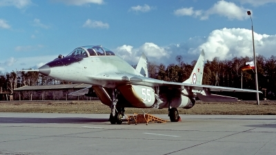 Photo ID 63678 by Carl Brent. Russia Air Force Mikoyan Gurevich MiG 29UB 9 51, 55 WHITE