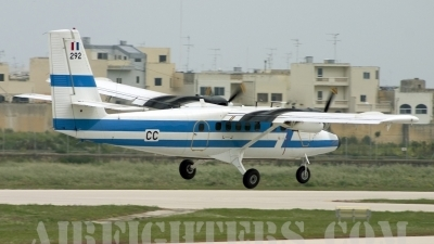 Photo ID 7980 by Gordon Zammit. France Air Force De Havilland Canada DHC 6 300 Twin Otter, 292