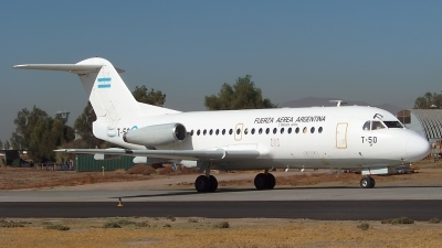 Photo ID 65072 by Paulo Morales Valdebenito. Argentina Air Force Fokker F 28 1000 Fellowship, T 50