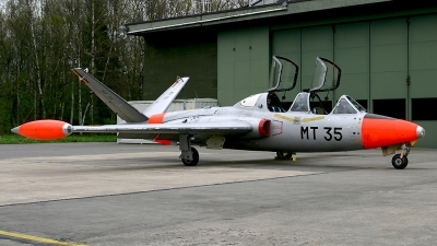 Photo ID 65320 by Carl Brent. Belgium Air Force Fouga CM 170R Magister, MT 35