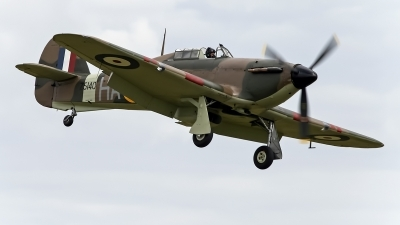 Photo ID 69333 by Niels Roman / VORTEX-images. Private Historic Aircraft Collection Hawker Hurricane XII, G HURI