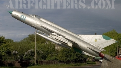 Photo ID 8490 by Chris Lofting. Ukraine Air Force Mikoyan Gurevich MiG 21MF, 01 BLUE