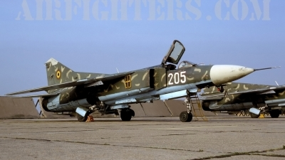 Photo ID 8505 by Chris Lofting. Romania Air Force Mikoyan Gurevich MiG 23MF, 205