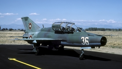 Photo ID 68033 by Joop de Groot. Bulgaria Air Force Mikoyan Gurevich MiG 21UM, 36