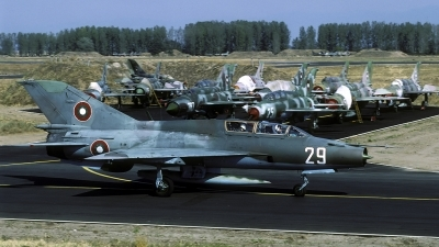 Photo ID 68342 by Joop de Groot. Bulgaria Air Force Mikoyan Gurevich MiG 21UM, 29