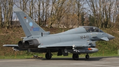 Photo ID 68482 by Ludwig Isch. Germany Air Force Eurofighter EF 2000 Typhoon T, 98 03