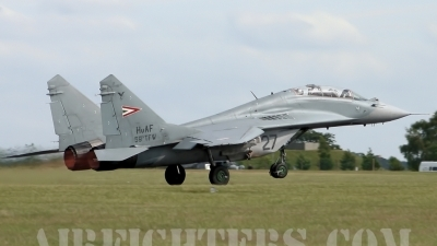 Photo ID 8686 by lee blake. Hungary Air Force Mikoyan Gurevich MiG 29UB 9 51, 27