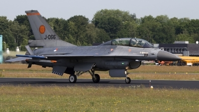 Photo ID 70068 by Niels Roman / VORTEX-images. Netherlands Air Force General Dynamics F 16BM Fighting Falcon, J 066
