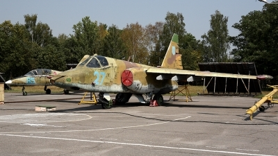Photo ID 72406 by Carl Brent. Ukraine Air Force Sukhoi Su 25, 27 BLUE